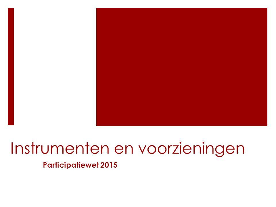 Instrumenten en voorzieningen Participatiewet 2015