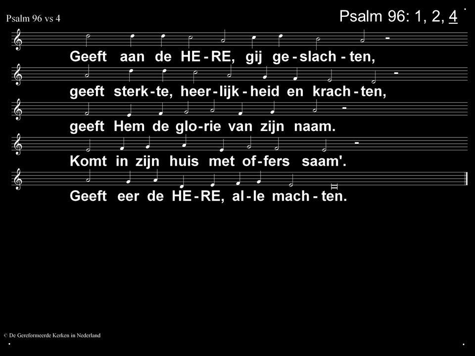 .... COLLECTE Vandaag Is de collecte voor de Kerk Na de collecte zingen we: Psalm 67: 1, 3