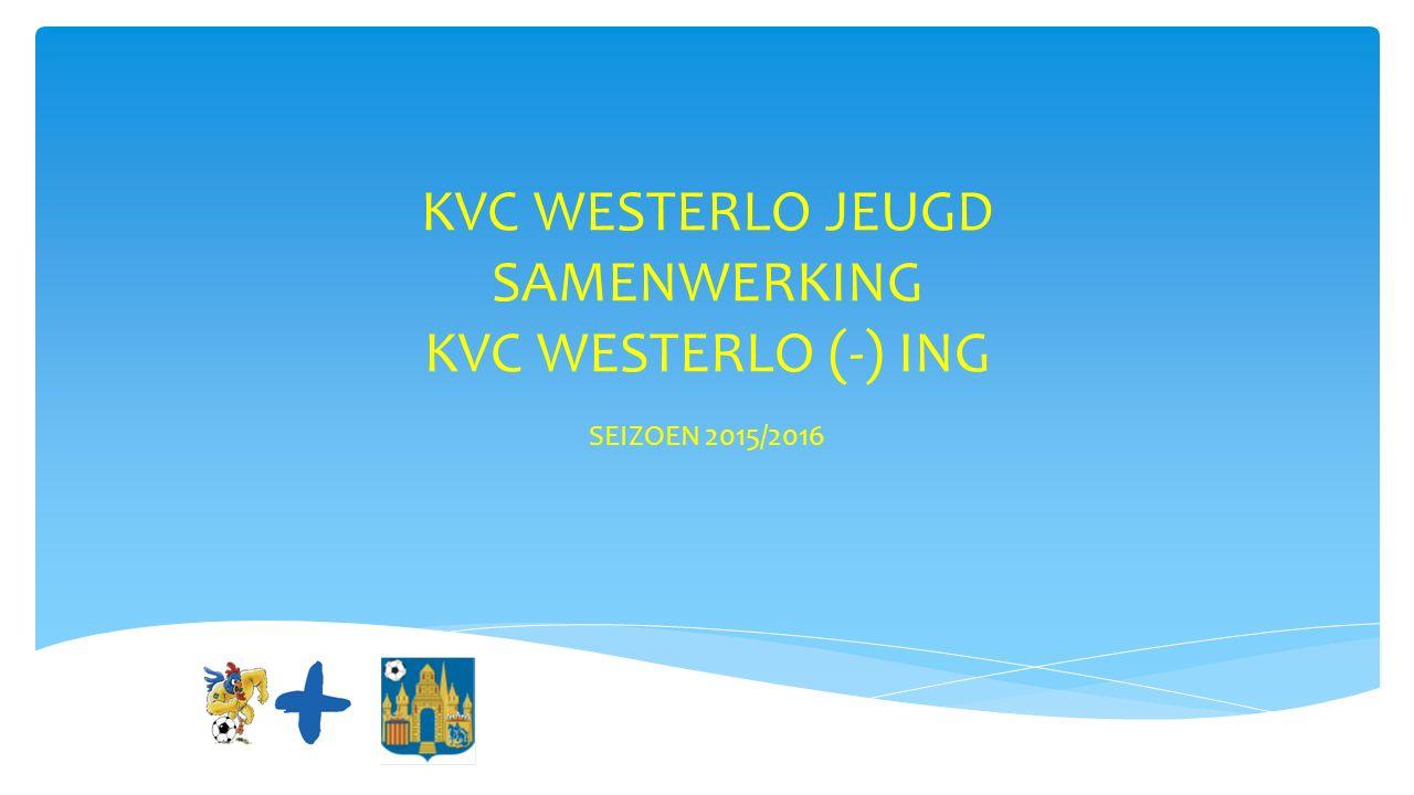 KVC WESTERLO JEUGD SAMENWERKING KVC WESTERLO (-) ING SEIZOEN 2015/2016