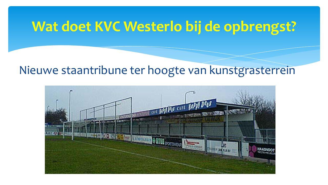Wat doet KVC Westerlo bij de opbrengst? Nieuwe staantribune ter hoogte van kunstgrasterrein