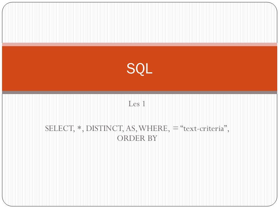 Termen Tabelnaam: (Entiteit) hetgeen/verzamelnaam waar je gegevens van wilt verzamelen.