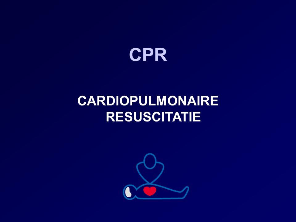 Inhoud CPR standaardschema: start hartmassage CPR uitzonderingsschema: start beademing Bewusteloos en normale ademhaling: stabiele zijligging