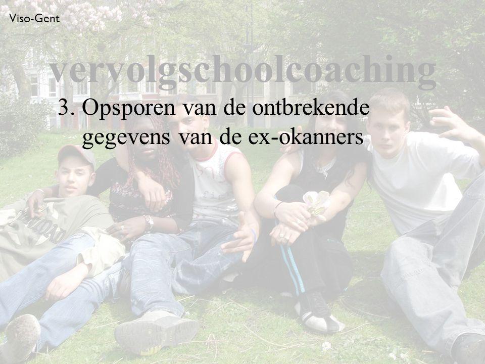 Viso-Gent 3. Opsporen van de ontbrekende gegevens van de ex-okanners vervolgschoolcoaching
