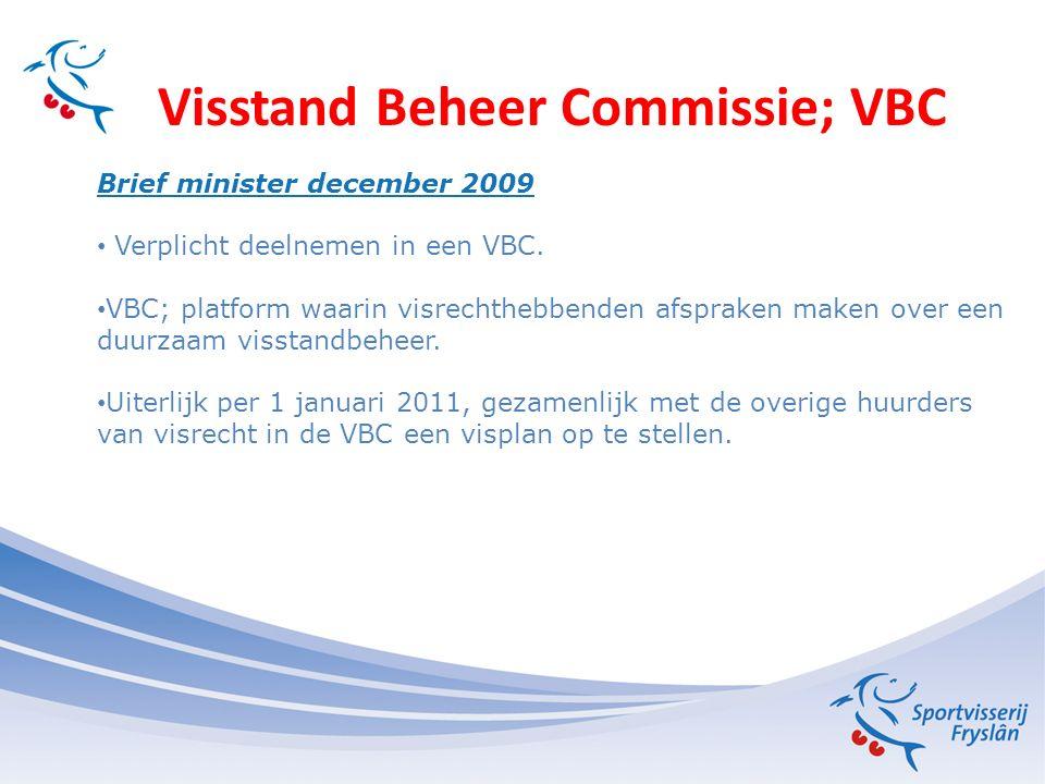 Visstand Beheer Commissie; VBC Voorwaarden van de Sport aan het beroep Samenwerking hervatten in de VBC.