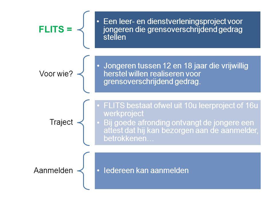 FLITS = Een leer- en dienstverleningsproject voor jongeren die grensoverschrijdend gedrag stellen Voor wie.