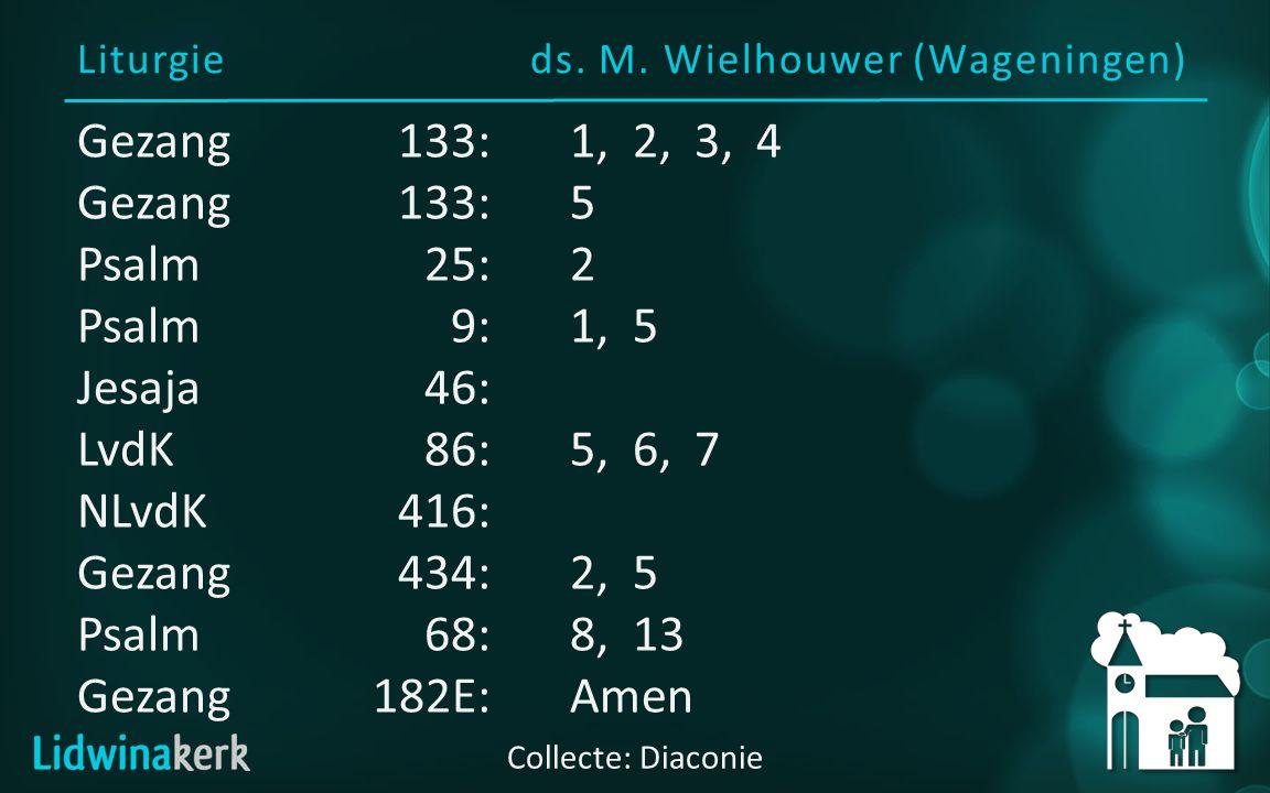 Voorganger: ds. M. Wielhouwer (Wageningen) Welkom in deze dienst