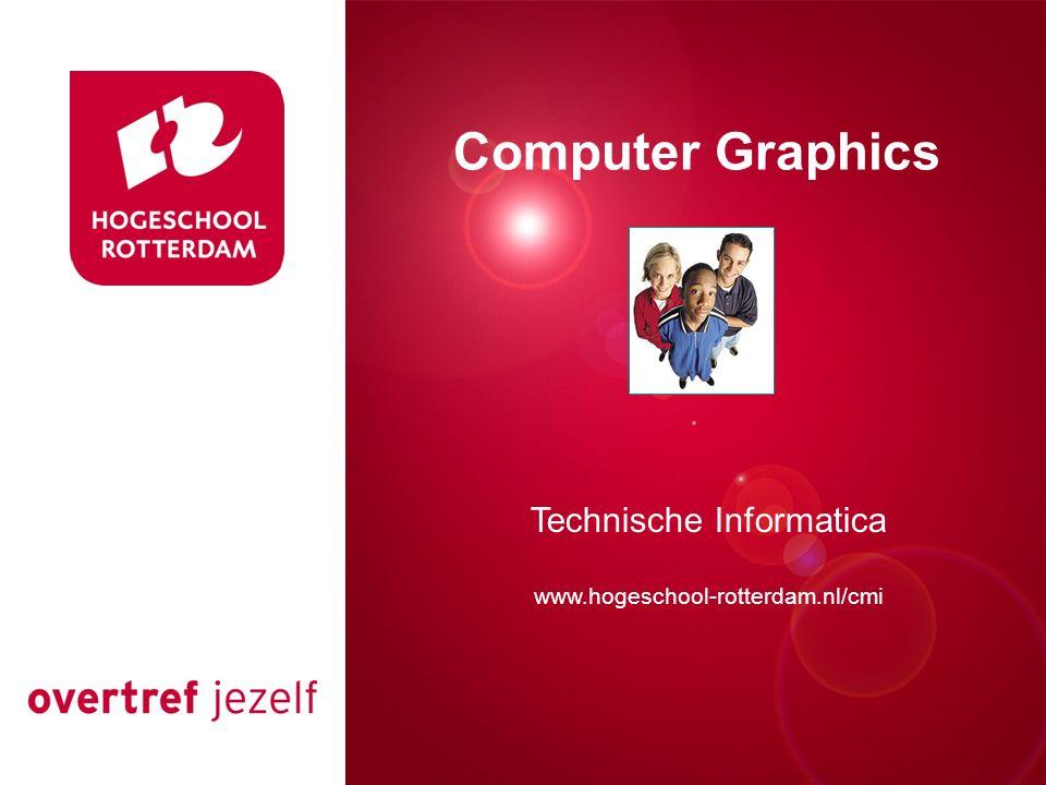 Presentatie titel Rotterdam, 00 januari 2007 Computer Graphics Technische Informatica www.hogeschool-rotterdam.nl/cmi