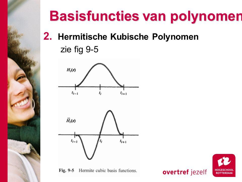 Basisfuncties van polynomen 2. Hermitische Kubische Polynomen zie fig 9-5