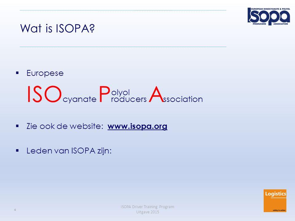 ISOPA Driver Training Program Revision 2015 5 ISOPA Member Companies