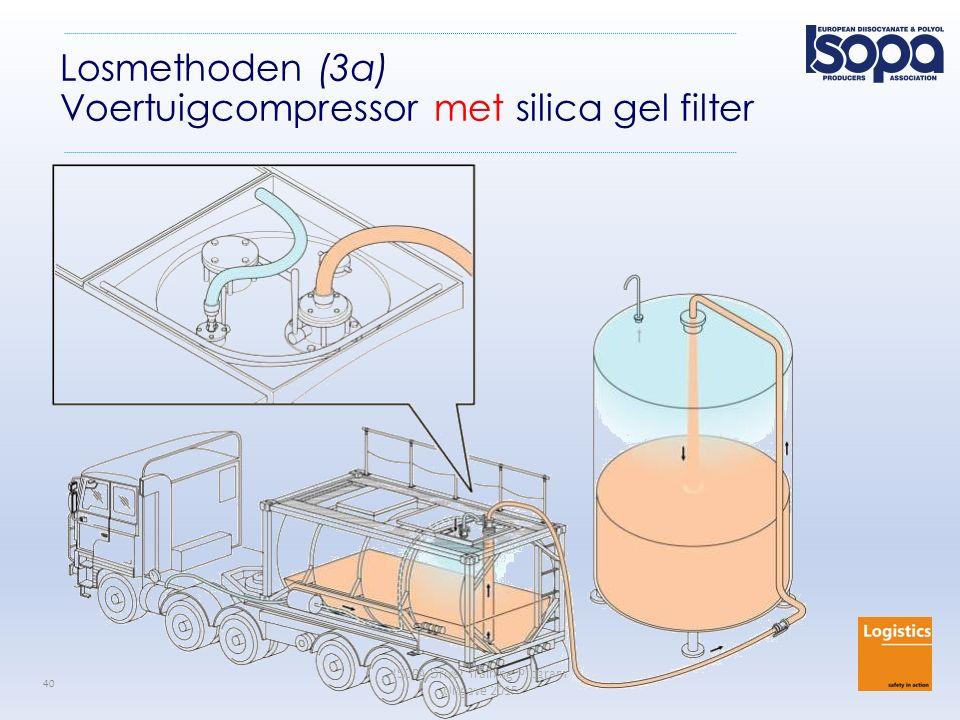 ISOPA Driver Training Program Uitgave 2015 40 Losmethoden (3a) Voertuigcompressor met silica gel filter