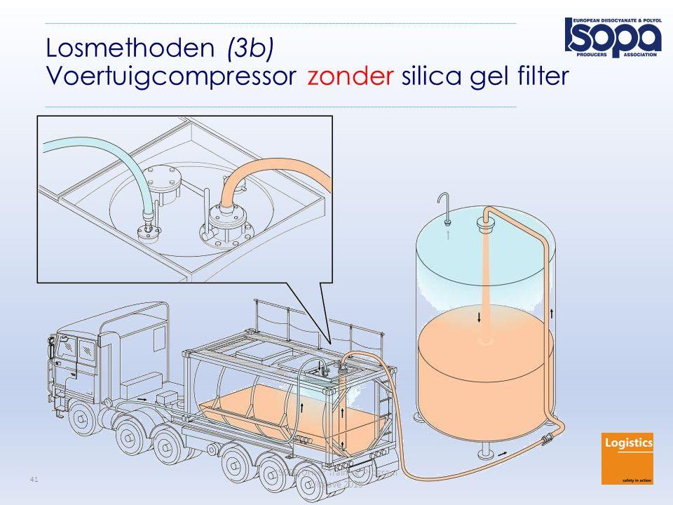 ISOPA Driver Training Program Uitgave 2015 41 Losmethoden (3b) Voertuigcompressor zonder silica gel filter