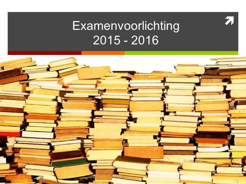  Examenvoorlichting 2015 - 2016
