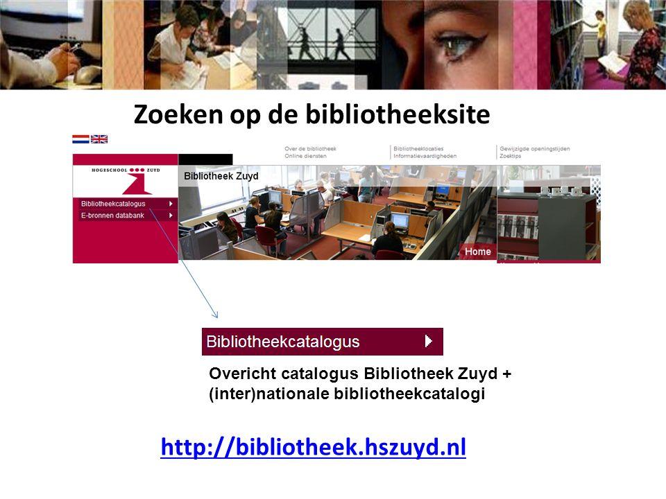 http://bibliotheek.hszuyd.nl Zoeken naar tijdschriftartikelen in ScienceDirect
