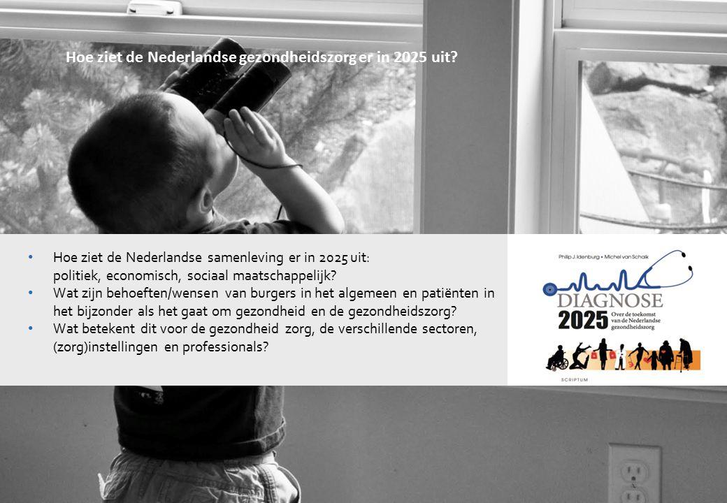 2001122 Hoe ziet de Nederlandse gezondheidszorg er in 2025 uit? Hoe ziet de Nederlandse samenleving er in 2025 uit: politiek, economisch, sociaal maat
