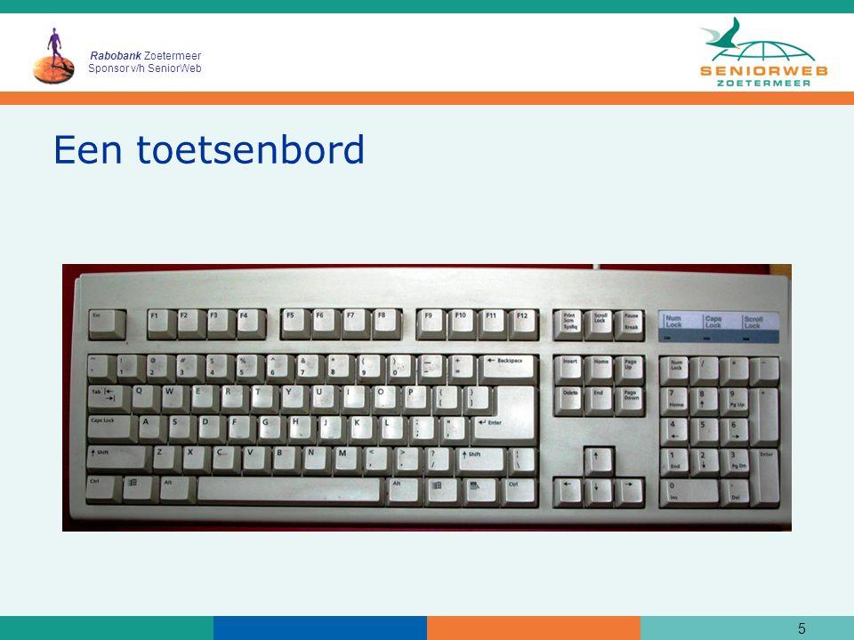 Rabobank Zoetermeer Sponsor v/h SeniorWeb Een toetsenbord 5