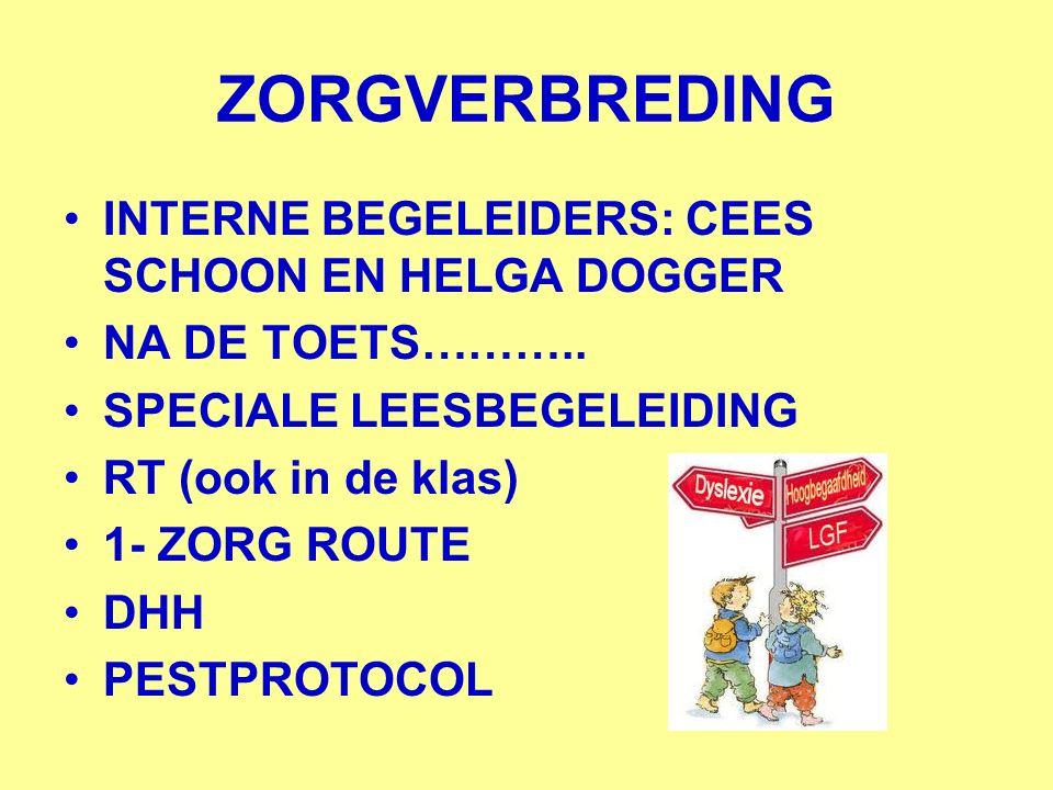 ZORGVERBREDING INTERNE BEGELEIDERS: CEES SCHOON EN HELGA DOGGER NA DE TOETS………..