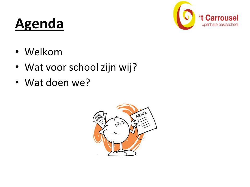 Agenda Welkom Wat voor school zijn wij? Wat doen we?