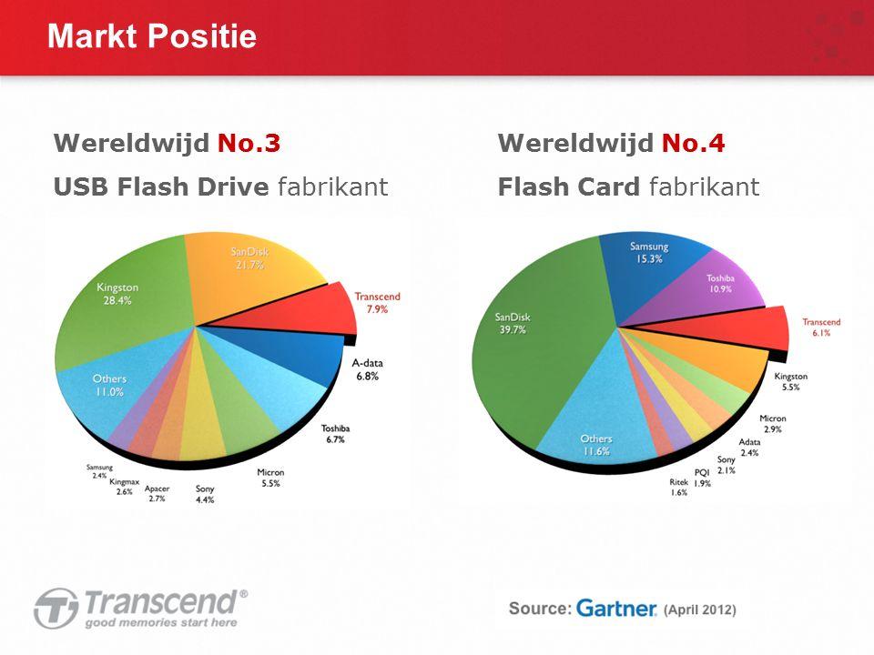 Markt Positie Wereldwijd No.3 USB Flash Drive fabrikant Wereldwijd No.4 Flash Card fabrikant