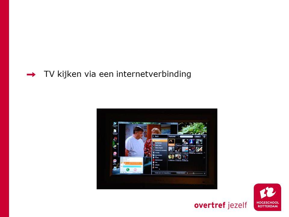 TV kijken via een internetverbinding