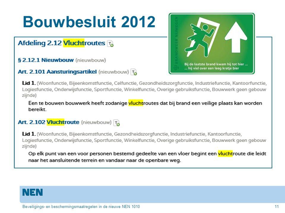 Bouwbesluit 2012 Beveiligings- en beschermingsmaatregelen in de nieuwe NEN 101011