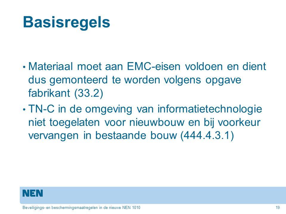 Basisregels Materiaal moet aan EMC-eisen voldoen en dient dus gemonteerd te worden volgens opgave fabrikant (33.2) TN-C in de omgeving van informatiet