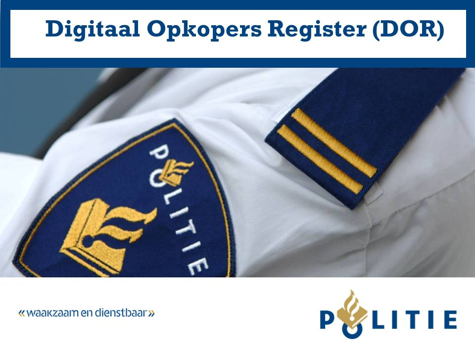 Digitaal Opkopers Register (DOR)