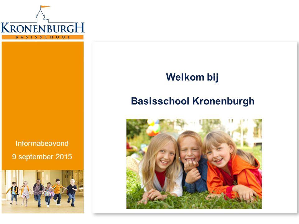 Welkom bij Basisschool Kronenburgh Informatieavond 9 september 2015