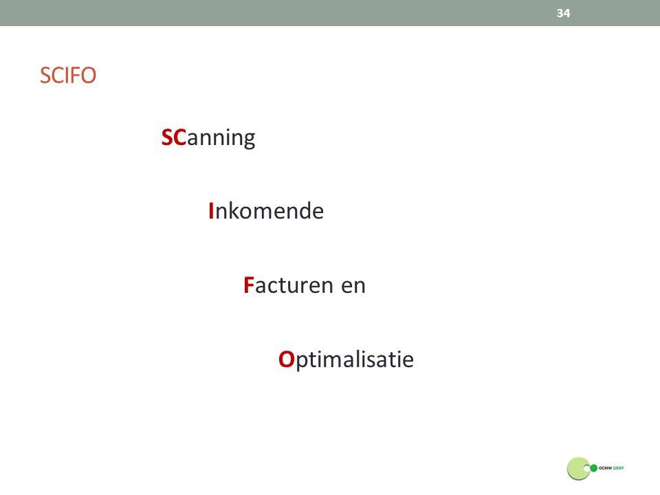SCIFO SCanning Inkomende Facturen en Optimalisatie 34