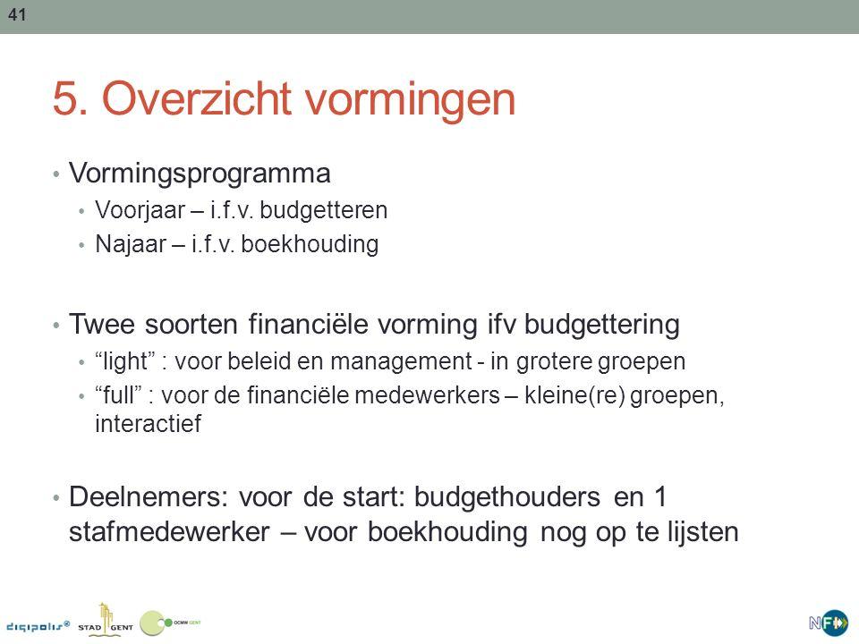 42 Programma – budgethouders Sessie 1 (jan) Gent2020: - Begrippenkader, Strategische cascade, opbouw,… Sessie 2 (maart): Intro BBC en NFI (Theorie) - Nieuwe budget- en boekingssleutel (dimensies) - Proces opmaak MJP en budget,… Sessie 3 (mei) Beleidsplanning en –opvolging (praktijk): - Vastklikken activiteiten, onderbouw aan bovenbouw,… Sessie 4 (okt-nov) : SAP Introductie (Praktijk) Sessie 5 (nov) : SAP Winkelwagentje (Praktijk) Sessie 6 (okt) : Subsidiemodule