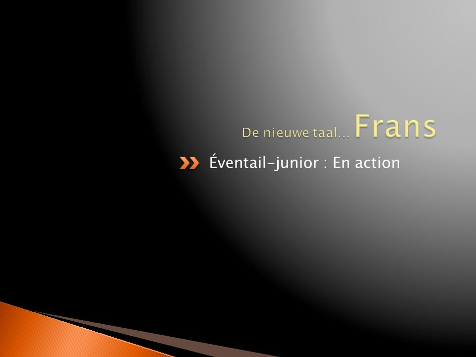 Éventail-junior : En action