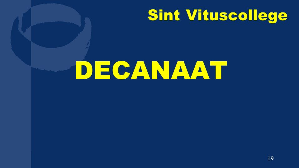 Sint Vituscollege DECANAAT 19