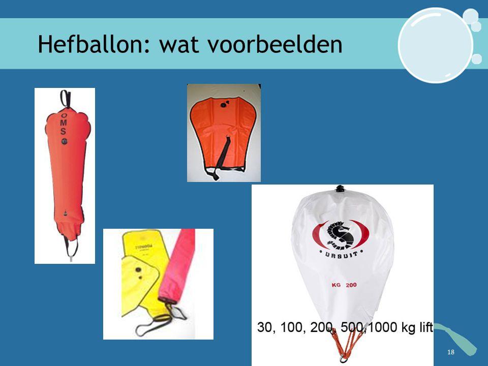 Hefballon: wat voorbeelden 18