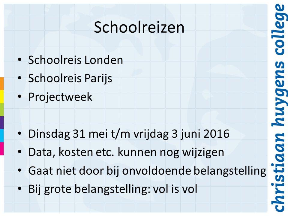 Schoolreizen Schoolreis Londen Schoolreis Parijs Projectweek Dinsdag 31 mei t/m vrijdag 3 juni 2016 Data, kosten etc.