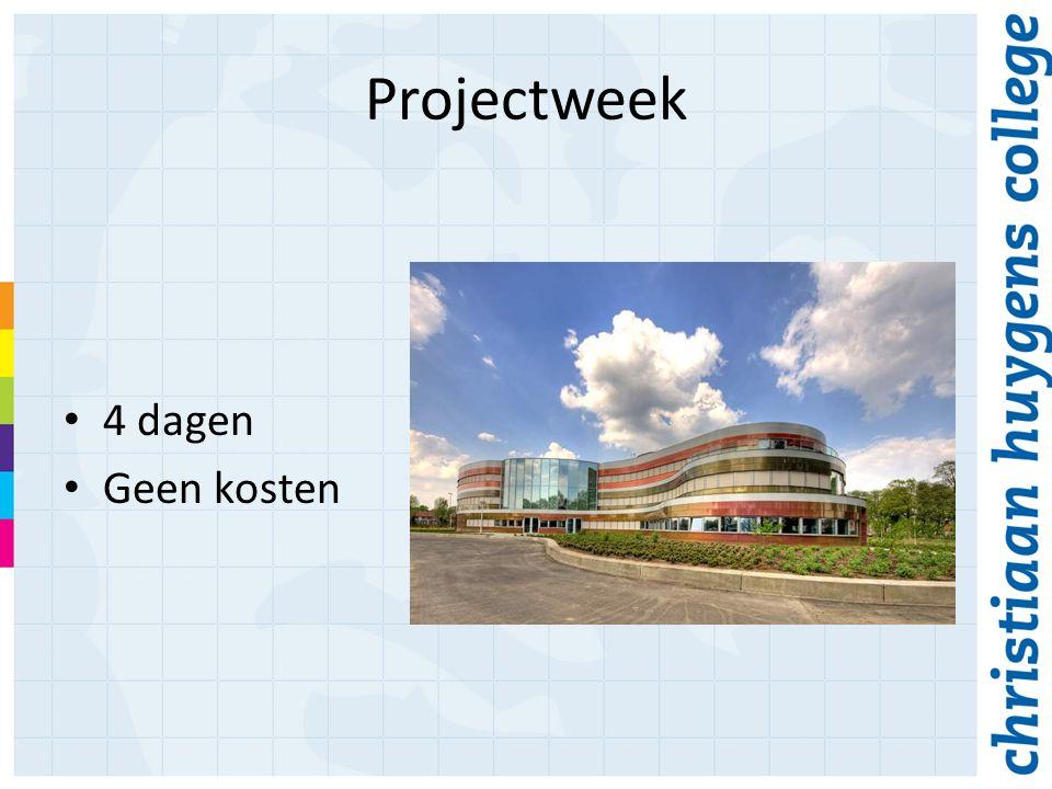 Projectweek 4 dagen Geen kosten