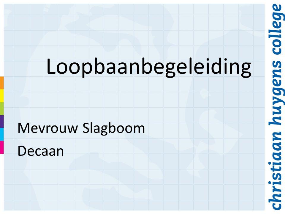 Loopbaanbegeleiding Mevrouw Slagboom Decaan