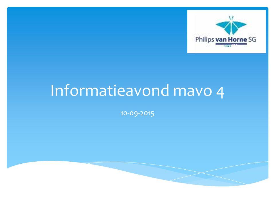 Voorstellen mentoren  Algemene informatie leerjaar 4  Eindexamen  Sectorwerkstuk: doorstroom MBO of havo  Activiteitenweek  Deel met de mentoren Programma