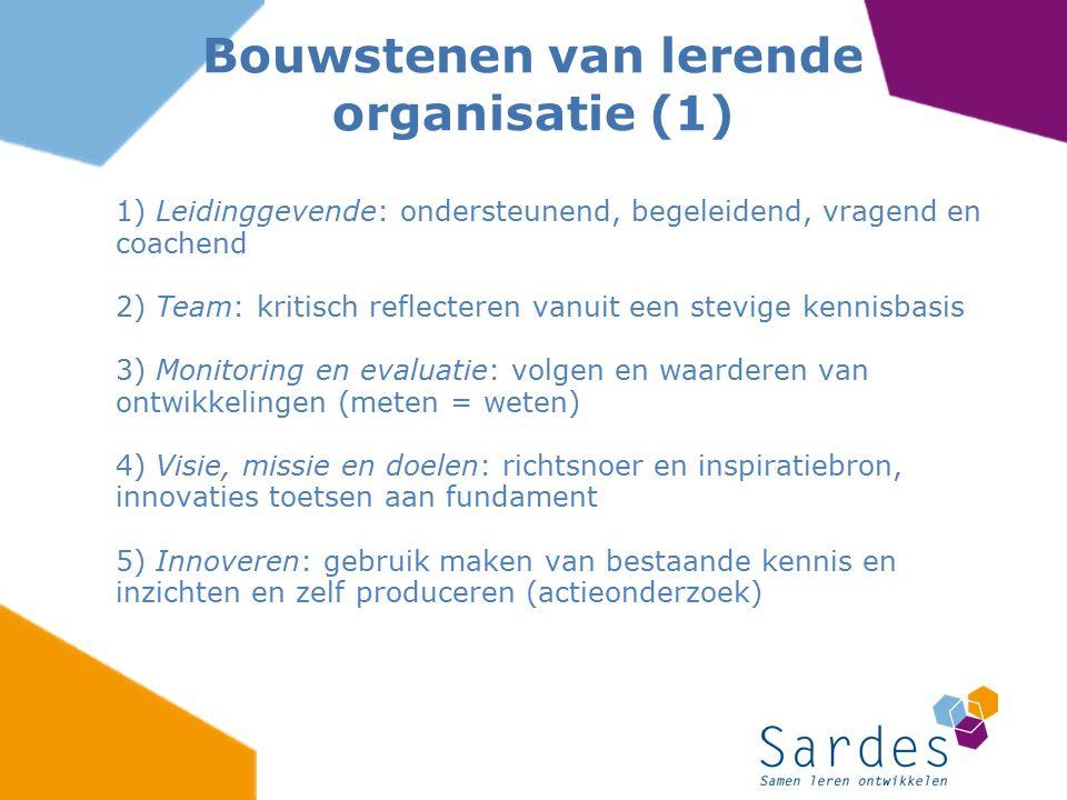 1) Leidinggevende: ondersteunend, begeleidend, vragend en coachend 2) Team: kritisch reflecteren vanuit een stevige kennisbasis 3) Monitoring en evalu
