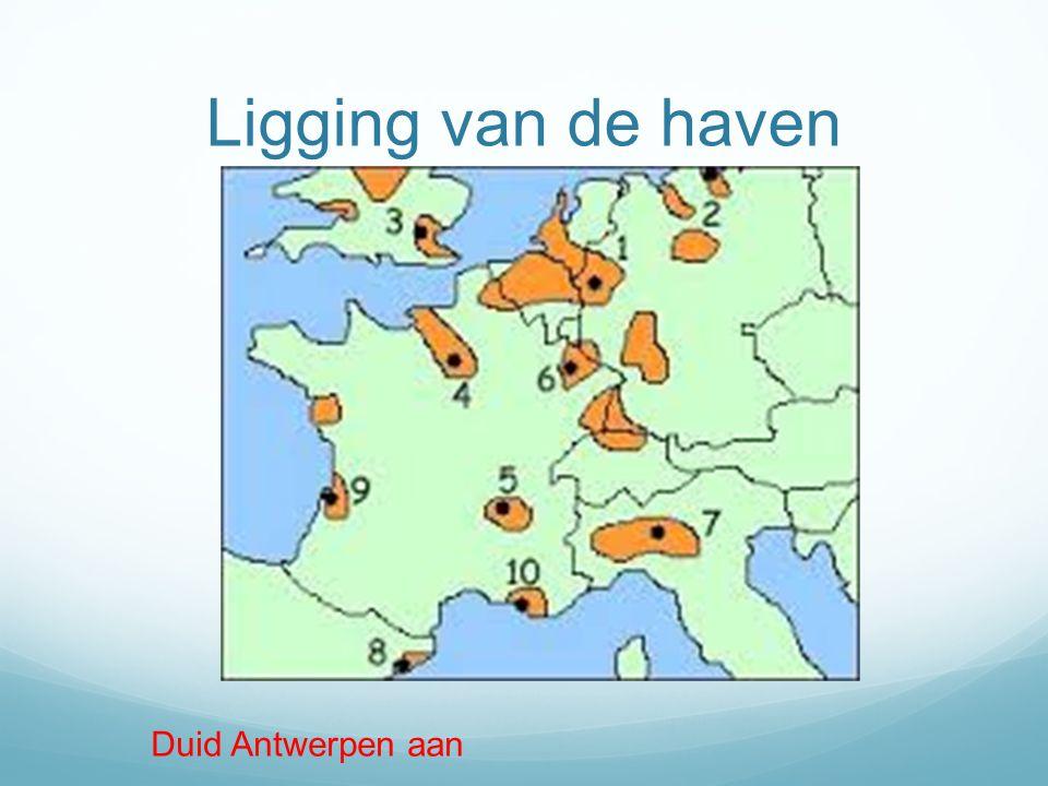 Ligging van de haven Duid Antwerpen aan