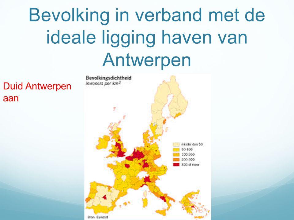 Bevolking in verband met de ideale ligging haven van Antwerpen Duid Antwerpen aan