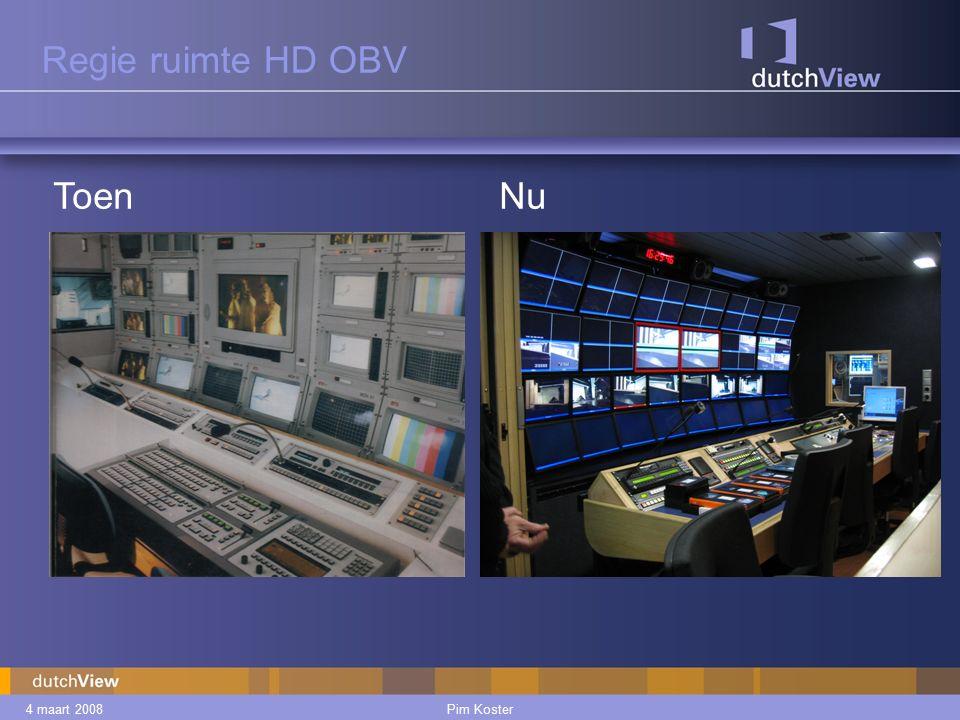 4 maart 2008Pim Koster Postproduction Veelal multicam registratie, dus veel materiaal.