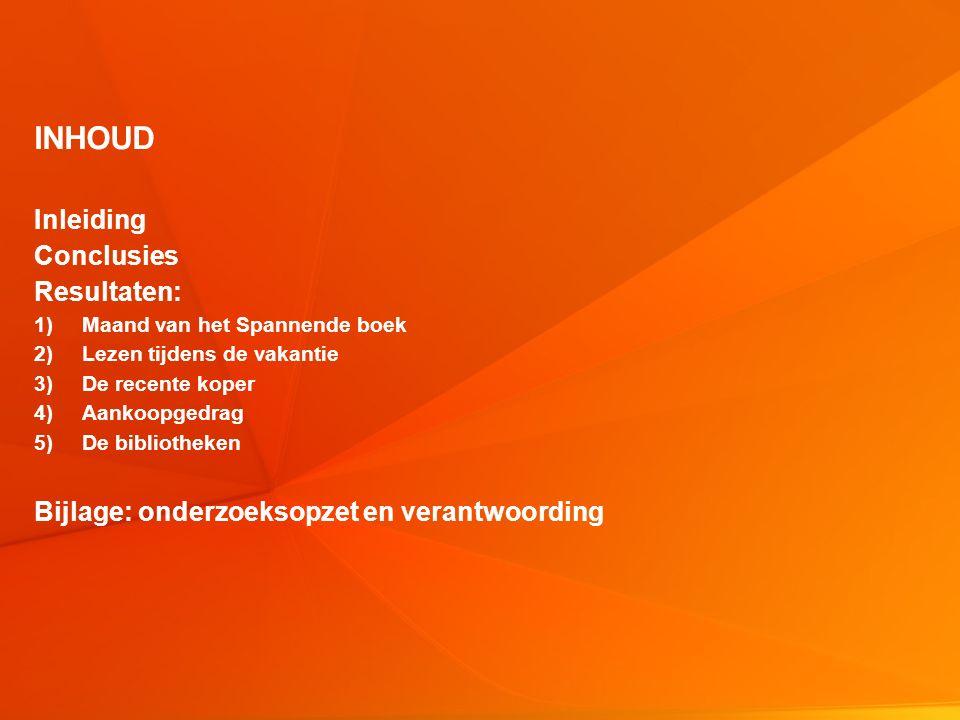 © Intomart GfK | 30085 SMB meting 3 2012 | Augustus 2012 2 INHOUD Inleiding Conclusies Resultaten: 1)Maand van het Spannende boek 2)Lezen tijdens de v