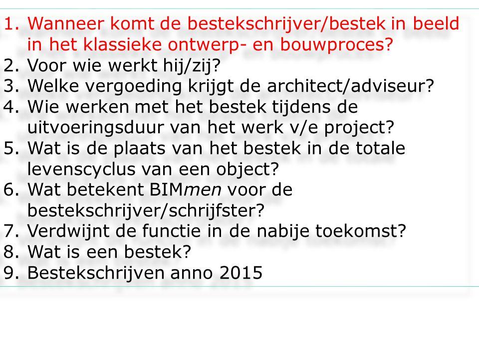 Gevolgen algemeen 1.De bouwdirectie moet extra inspanningen verrichten, o.a.
