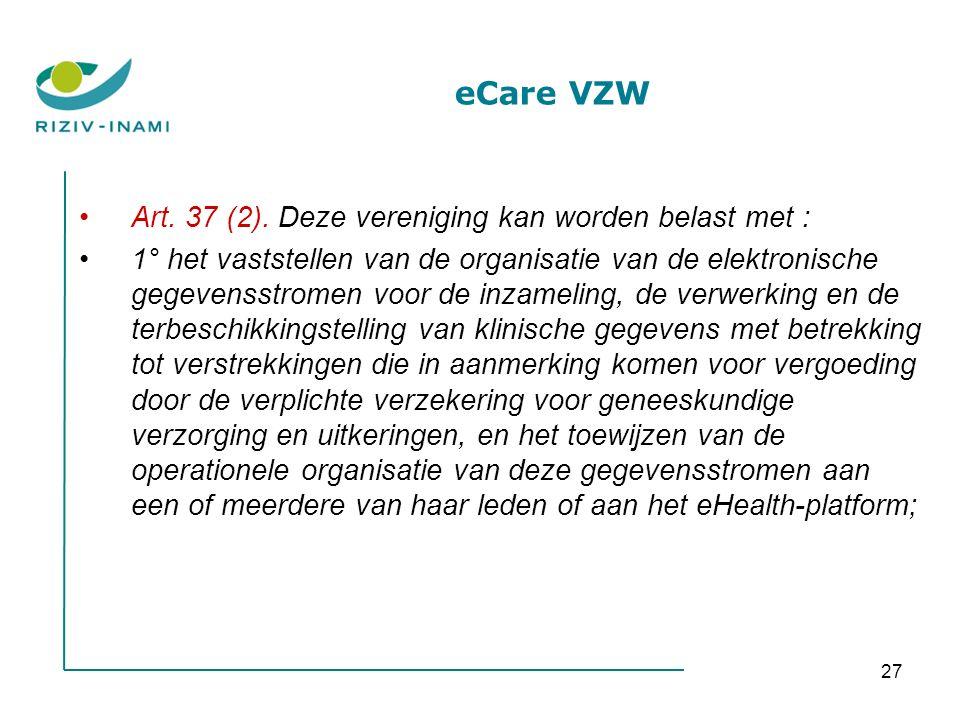 27 eCare VZW Art. 37 (2).