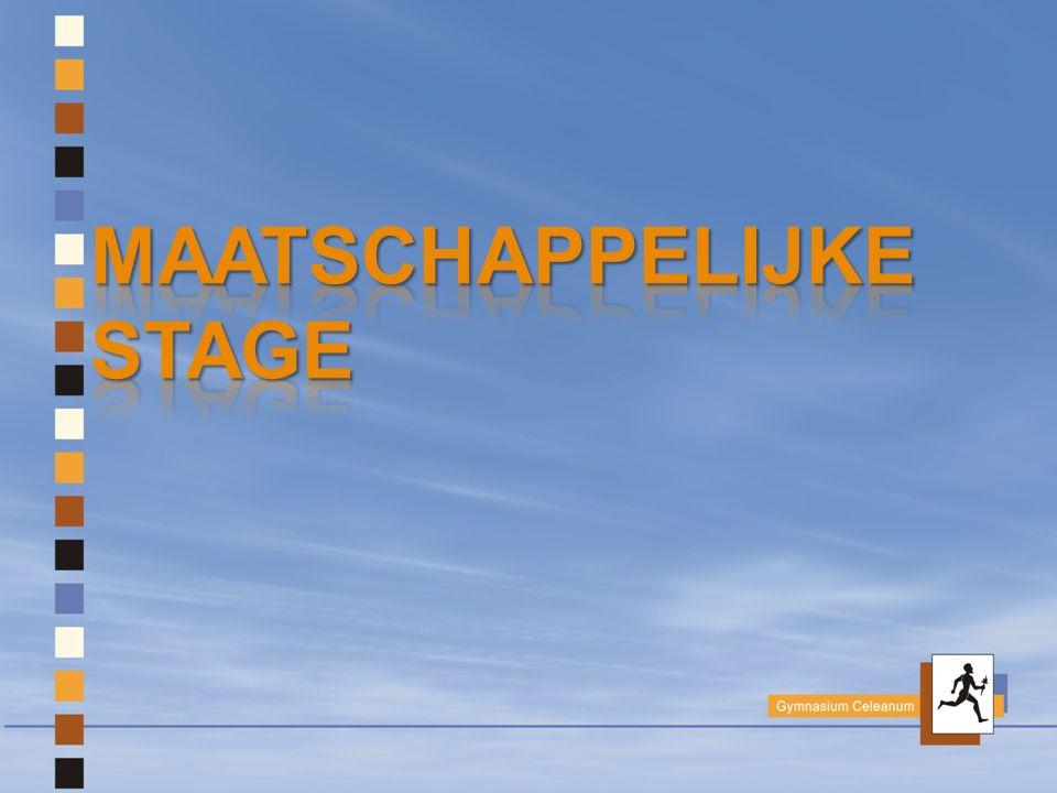Maatschappelijke stage (MaS) .
