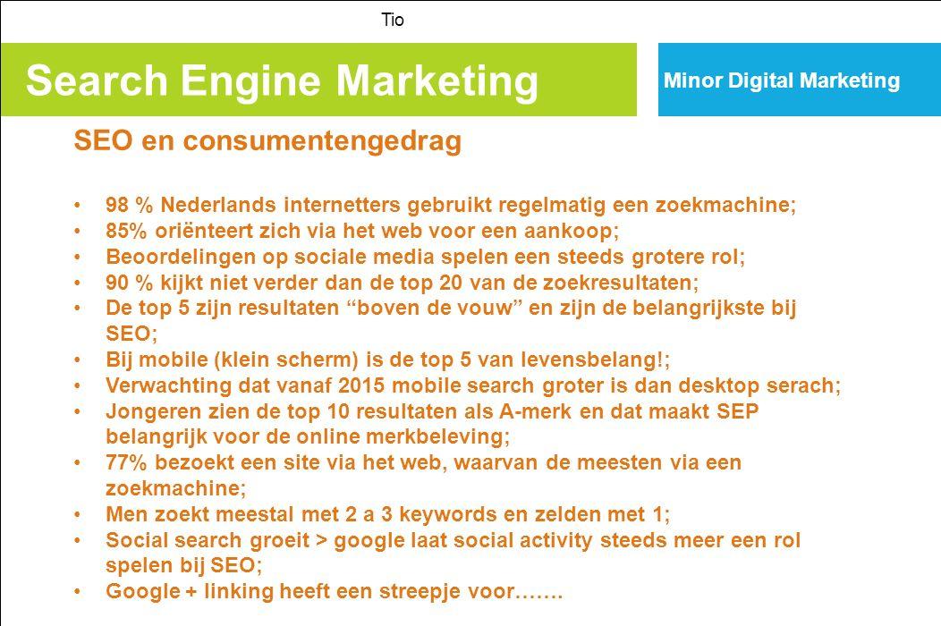 Search Engine Marketing Tio Minor Digital Marketing