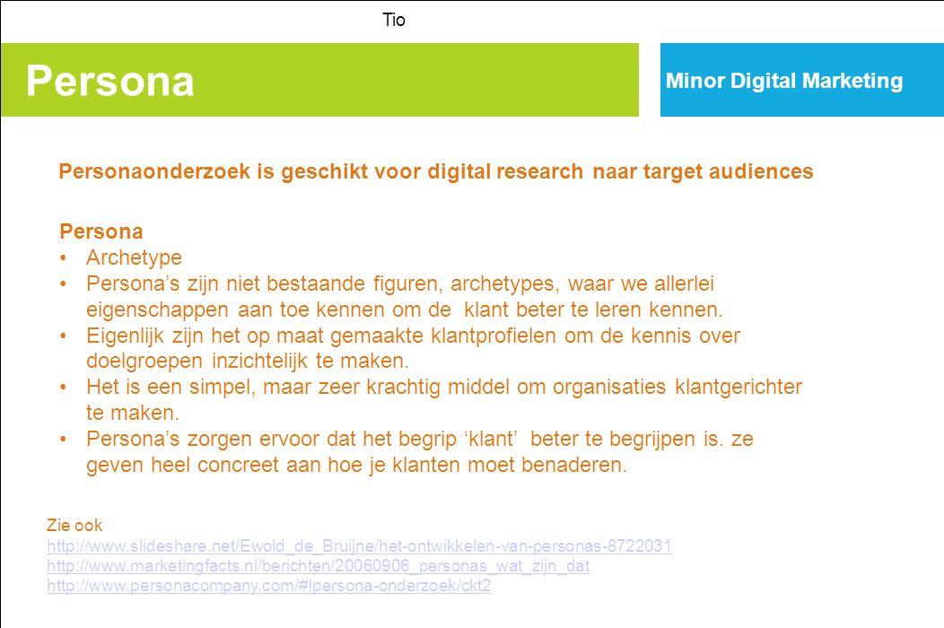 Persona Tio Voorbeeld uit scriptie student Margot van gelederen, Tio Amsterdam.