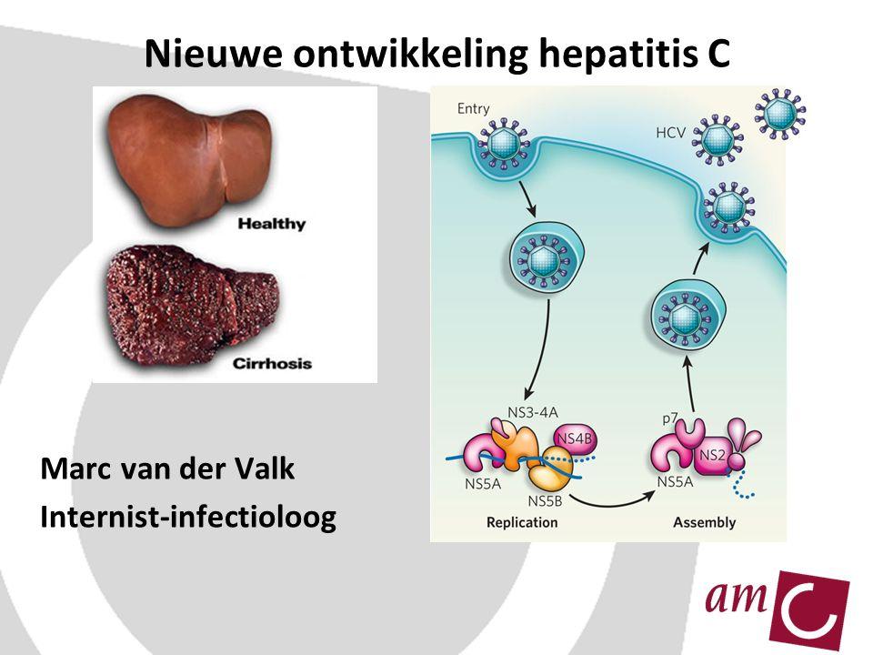 Nieuwe ontwikkeling hepatitis C Marc van der Valk Internist-infectioloog