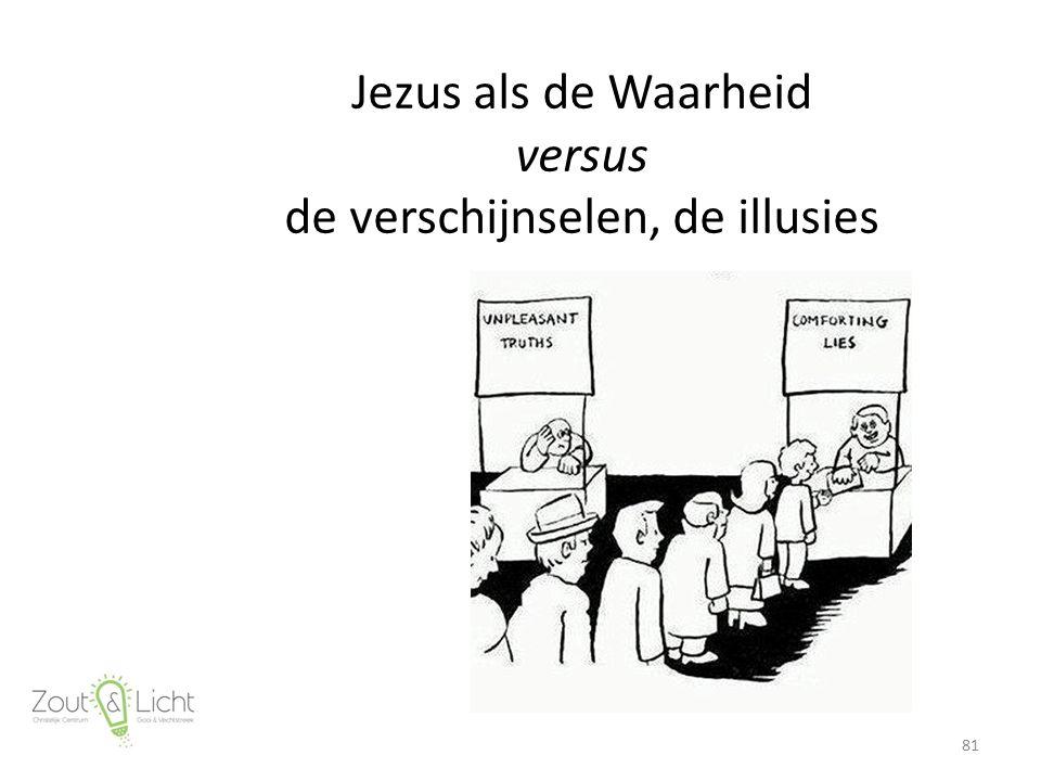 Jezus als de Waarheid versus de verschijnselen, de illusies 81