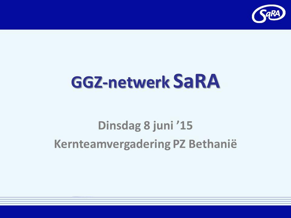 GGZ-netwerk SaRA Dinsdag 8 juni '15 Kernteamvergadering PZ Bethanië