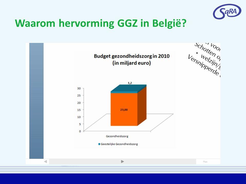 Waarom hervorming GGZ in België?